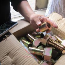 Accesorios de manguera de gas de acero al carbono con baño de zinc, estándar y no estándar
