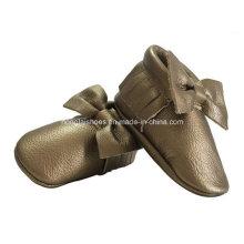 Aureate Bowknot Leder Baby Schuhe