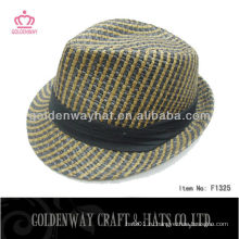 Мода шляпы соломенной шляпы Fedora для украшения