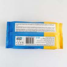 Personnaliser les lingettes sans alcool de couleur blanche