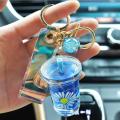 Milk Cup Liquid Keychain