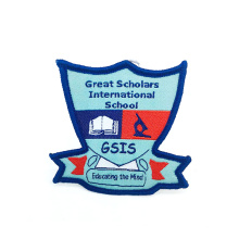 Factory Direct Price Custom Iron On Woven Patch Embroidery Woven Badges For School Uniform