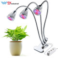 30W Room-Plant Abrazadera de cabezal triple LED Grow Light