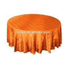 Taffeta pintuck table cloth for banquet