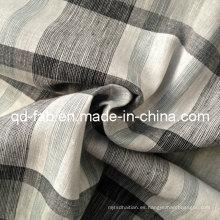 100% hilo de lino teñido de tela (QF13-0758)