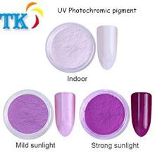 Mudança de cor sensível à luz em pó Sol pigmento fotocromático UV para revestimento, unha polonês
