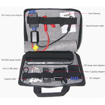2016 new high quality strong power DC12V 24V battery car jump starter with air compressor