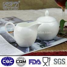 Elegantes weißes Porzellan-Knochenporzellan-Zucker-Topf