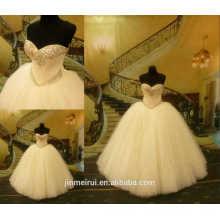 Vintage Ball Gown Sweetheart Long Beaded Luxury Crystal Floor Length Wedding Dresses vestido de
