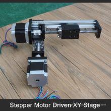 Aceite paypal 100 a 1000mm curso xy mesa motorizada para braço robô industrial