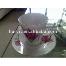 Gold rim porcelain tea cup&saucer