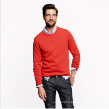 100% Cachemire pull tricot hommes couleur d'hiver pur Cachemire mince pull sous pull chemise