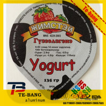 Printed and Die cut Aluminum Lid for yogurt cups