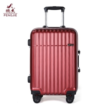 Aluminum frame hard ABS shell luggage