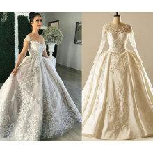 UAE Long Sleeve Ball Gown Wedding Dress