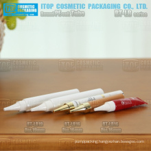 small size 16mm and 19mm diameter tail sealed or unsealed the most flexible packaging makeup tube