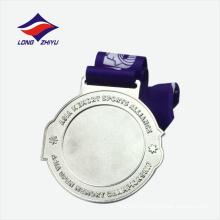 Посеребренная медаль блестящая звезда подарок сувенир