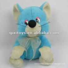cute stuffed and pulsh blue bear toy