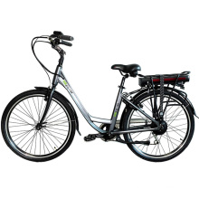 Customize color 26inch electric city bike 36V250W rear brushless geared motor with 36V8.8AH lithium battery