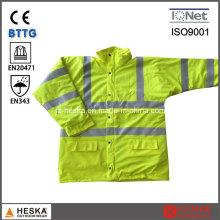 Men′s En343 3:2 безопасности PU покрытием светоотражающий жилет