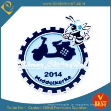 Benutzerdefinierte Hellblau Gear Stickerei Patch (LN-06)