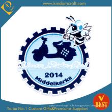 Patch de broderie de vitesse bleu clair personnalisé (LN-06)