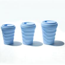 Tasse à café en silicone réutilisable avec couvercles