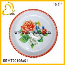 Large melamine round serving tray