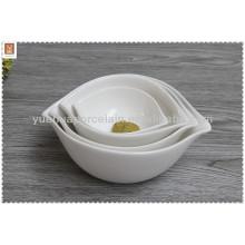 Tigela de salada de cerâmica com logotipo personalizado