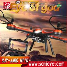 Оригинальный jjrc H11D 6-ось Gryo 5.8 г fpv Безголовый режим беспилотный Мультикоптер с 2-мегапиксельной камерой rtf 2.4 ГГц против дистанционного управления jjrc H9D SJY-управление jjrc H11D