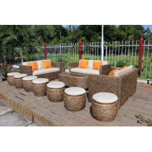 Top selling Water Hyacinth Living set for Indoor Home Furniture luxury design