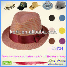 2013 Newest Elegant Red Bowknot Women's 100% Paper Straw Hat ,LSP34