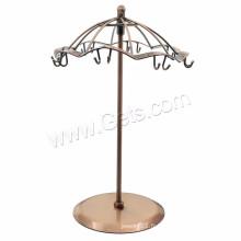 Affichage à forme de parapluie Affichage de bijoux polyvalents en cuivre antique