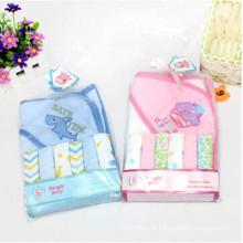 Baby-Badetuch + 6 Stück kleine quadratische Handerchief