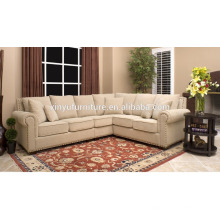 european french style fabric L sofa set with side table XYN2054