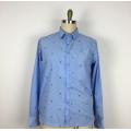 Высокое качество резки цветок полиэстер хлопок мужская рубашка