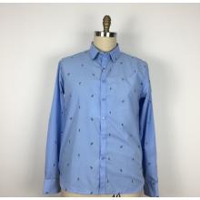 Hochwertiges Schnittblumen-Herrenhemd aus Polyester-Baumwolle