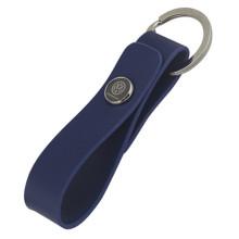 Llavero de cuero personalizado de la PU del metal con la insignia del coche (F3050B)