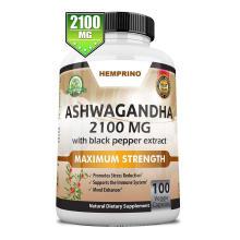 Pure Organic Ashwagandha Capsules 2100mg Vegan KSM-66 Capsules