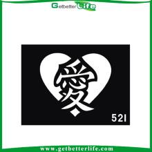 11 * 8cm reutilizable brillo tatuajes plantillas tatuajes del carácter chino