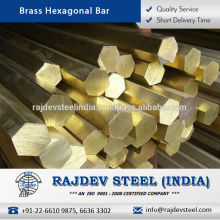 Highly Durable and Cost Effective Brass Hexagonal Bar