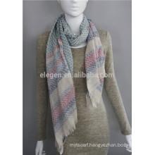 100%Polyester stripe dots printed China factory long scarf shawl