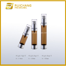 Plastic UV Coating Cosmetic Airless Bottle