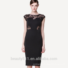 Hot selling summer women's European and American hollowed-out lace dresses with short sleeves and slim pencil skirt PS01