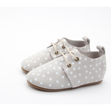 Kids Oxford Shoes Läder Gummibom