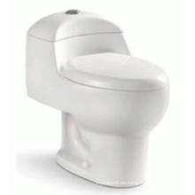 Artículos sanitarios Cerámica simple de una pieza Sifón Flushing WC (6203)