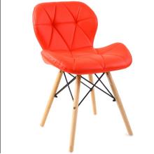 Silla al por mayor del asiento del cuero de las piernas de madera de haya de la moda