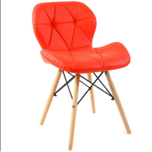 Wholesale fashion beech wood legs leather seat chair