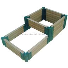 Easy Install DIY Flower Box Waterproof Planter Vegetables Flower Bed Garden Decoration WPC Composite Wood Plastic Flower Pots