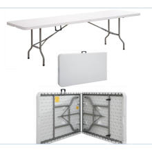 China Wholesale 8FT Plastic Folding Dining Table for Outdoor Events